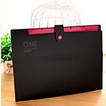 South Korean Candy Colored Stationery Folder A4 Paper Bags (5 Cell)