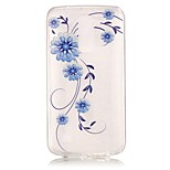 Orchid 3D Relief Feeling Super Soft Pack Transparent TPU Phone Case for LG K7/K8/K10