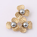 European and American fashion zircon Pearl Brooch Series 019