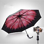 The New Bluetooth Self-Timer Umbrella Black Umbrella Folding Umbrella Sun Shade Sun Sunny Umbrella Female Vinyl