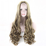 2016 Fashion Wig Long Curly Highlight Brown Wig Brown Hair Wigs Anime Hair Cosplay Costume Party Full Wigs 22H10