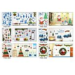 Christmas Window Stickers Wall Stickers Window Christmas Window Decoration Pvc