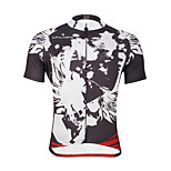 Breathable Paladin Summer Male Short Sleeve Cycling Jerseys 100% Polyester DX655 Cark Grey Skeletons