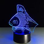 1pc מגע 3 ד הוביל אור בלילה צבע שינוי מנורת שולחן אווירת מתנת מנורת חזון צבעוני