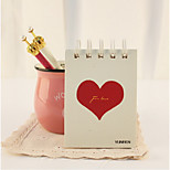 This Portable Turn Coil Loose-Leaf Notebook Of Love Notes This Sketch Thickened Little Book On