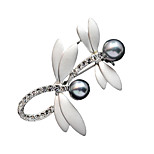 Women's Fashion Accessories Brooch Romantic Crystal Classic Dragonfly Cravat Brooches Jewelry