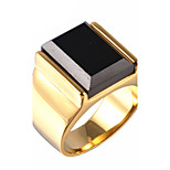 Men's Gem / Titanium Steel Vintage Punk Ring Party / Daily / Casual 1pc Statement Rings