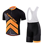 KEIYUEM® Cycling Jersey with Bib Shorts Unisex Short Sleeve BikeWaterproof / Breathable / Quick Dry / Anatomic Design / Rain-Proof /