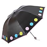 Green / Blue / Pink / Purple / Beige Folding Umbrella Sunny and Rainy Textile Travel / Lady / Men