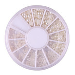 The Size of Mixed Manicure Pearl Pearl White Pearl a Semicircle