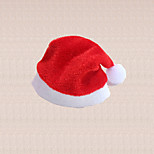 2pcs Red Christmas Wine Bottle Hat Cap Decoration Dining Dinner Table Cover Party Supplies