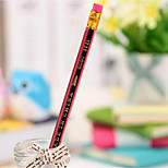 U1431 Boutique Red And Black Students Pencil Lead-Free Pumping Poison Hb Pencil Students Prizes