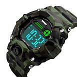SKMEI® Unisex Fashion Sport LCD Digital Music Alarm Waterproof Rubber Talking Watch