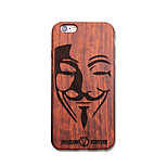 Natural Wood V for Vendetta Ultra Thin Protective Back Cover iPhone Case for iPhone 6S Plus/6 Plus/6S/6
