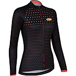 Sports Cycling Tops Women's Bike Breathable / Front Zipper /  Ultra Light Fabric / Compression Long SleeveLYCRA® /
