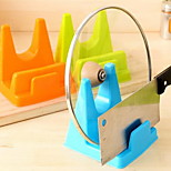 Multipurpose Health and Environmental Tool Holder Cutting Board Shelf Lid Rack with Water Receiving Tray (Random Color)
