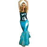 Costumes Mermaid Tail Halloween / Christmas / Carnival / Oktoberfest / New Year Blue Vintage Dress