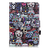PU Leather Material Skull Embossed  Pattern Tablet Sleeve for iPad mini 1 / 2 / 3