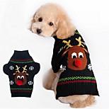 Perros Suéteres Negro Invierno Navidad Mantiene abrigado, Dog Clothes / Dog Clothing-Other