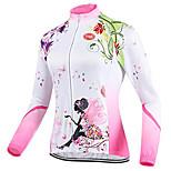 Sports Cycling Tops Women's Bike Breathable / Front Zipper / Wearable / Ultra Light Fabric Long Sleeve LYCRA®