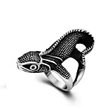Men's Rings Personality Vintage Lizard Silver Band Ring Fashion Jewelry Gift Titanium Steel Ring