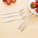 Korean Small Stainless Steel Fruit Fork Cutlery Bidentate Fork Fork Dessert Fork Fruit Signed