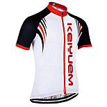 KEIYUEM Cycling Jersey/ Tops Unisex Short Sleeve/ Breathable / Quick Dry / Rain-Proof /Waterproof Zipper#K184