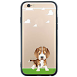 Para Funda iPhone 6 / Funda iPhone 6 Plus Transparente / Diseños Funda Cubierta Trasera Funda Perro Suave TPU AppleiPhone 6s Plus/6 Plus