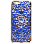 Rose Gold Plating TPU + 3D Diamond Surface Rhinestone High-Grade Soft Phone Case for iPhone 6/6S/6 Plus/6S Plus