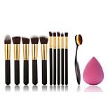 10pcs Makeup Brushes And Makeup Toothbrush Fashion Makeup Brush Set And Makeup Puff