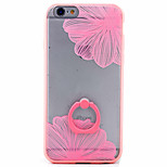 PC+TPU Material Diagonal Flower Frosted Relief Bracket Phone Case for iPhone 6s/6/6s Plus/6 Plus