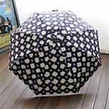 Elegant Flowers Half Off Portable Small And Pure And Fresh And Translucent Super Sun Umbrella