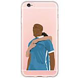Para Capinha iPhone 6 / Capinha iPhone 6 Plus Transparente / Estampada Capinha Capa Traseira Capinha Desenho Rígida PC AppleiPhone 6s