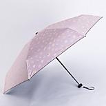 The New Creative Umbrella Sunny Half Of Small Floral Black Umbrella Uv Sunscreen Vinyl Umbrellas Female Lightweight