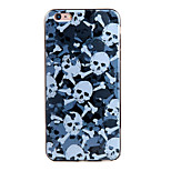 Shockproof / Frosted / Embossed / Pattern Gray Skull TPU Soft  Case Cover For IPhone 6/6s/6plus/6s plus