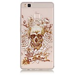 TPU material The New Skull Rose Trees Pattern Luminous Phone Case for Huawei P9Lite/P9/P8Lite/Honor 5X