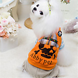 Dog Sweater Blue / Orange Winter / Spring/Fall Skulls Casual/Daily / Halloween Dog Clothes / Dog Clothing-Other