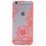 PC+TPU Material Lotus Frosted Relief Bracket Phone Case for iPhone 6s/6/6s Plus/6 Plus