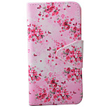 Butterflies  and Flowers Pattern PU Material Card Phone Case For IPhone 7 5 5s se 6 6s 6 Plus  6s Plus