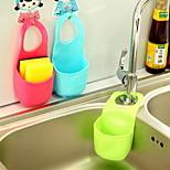 Single Home Kitchen Bathroom Gadget Hanging Plastic Storage Box(Random Color)