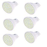 5 GU10 Focos LED MR16 80 SMD 2835 450 lm Blanco Cálido / Blanco Fresco Decorativa AC 100-240 V 6 piezas