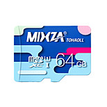 MIXZA 64 GB Class 10 Micro SD  TF Flash Memory Card High Speed Genuine Read Speed: 80MB/s Waterproof