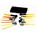 18 Makeup Brushes Set Synthetic Hair Portable Wood Face Others