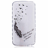 Feather Corners Pattern Printing Thick TPU Material Phone Case for LG K4 K5 K8 K10