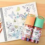 Deli 48 Color Drawing Graffiti Secret Garden Coloring Pen Color Pencil Lead