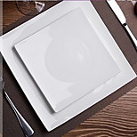 Pure White Lead-free Bone Porcelain Square Plate