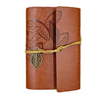 Retro Leather Diary Loose-Leaf Notebook Notepad Creative Leaves
