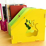 Korea Creative DIY Wooden Document Holder File Box Office Books Storage Shelf