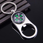 Zinc Alloy Compass Multifunction Home Opener Keychain Bottle Opener