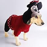Katzen / Hunde Kostüme / Mäntel / Kapuzenshirts / Hosen / Overall / Austattungen Rot / Schwarz Hundekleidung Winter / Frühling/Herbst